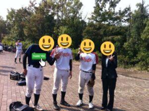 大学の野球部時代に元夫と取った写真