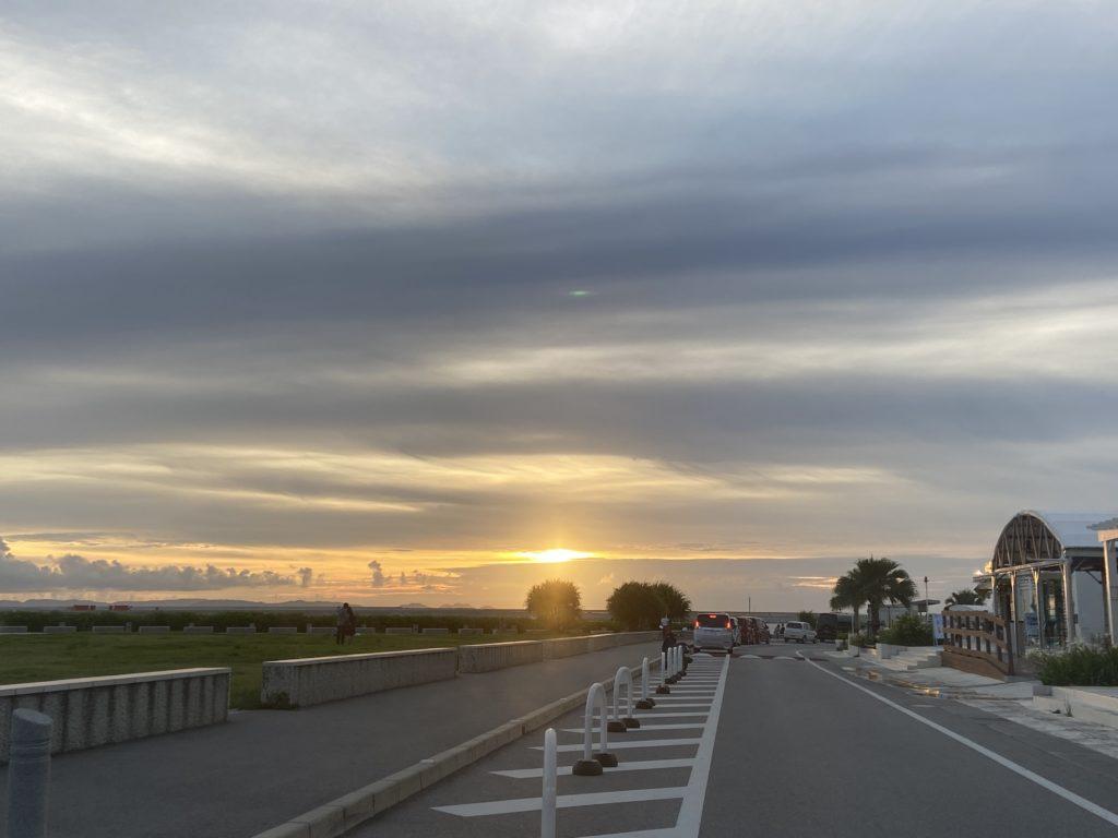 瀬長島でみた夕焼け