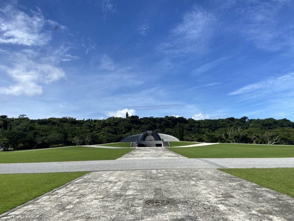 平和祈念公園の記念碑