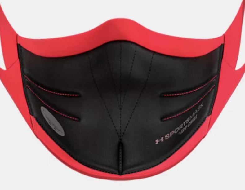 アンダーアーマースポーツマスクレッド赤の内側は黒地